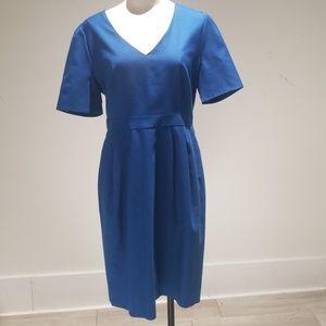 J.Crew super 120s royal blue dress sz.12